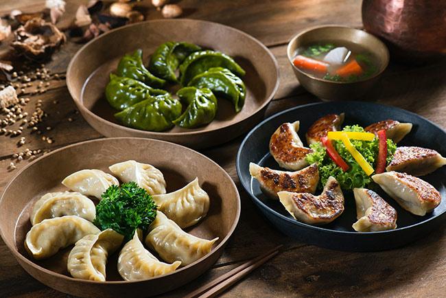 dumplings on the table