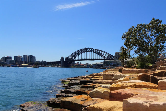 View of Sydney Harbour Bridge from Barangaroo