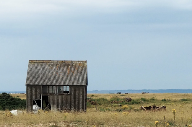 an abandoned tin shack out in the middle of nowhere